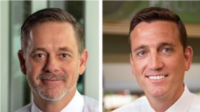 John Goff, left, was promoted by Publix to senior vice president of retail operations. Matt Crawley, right, was named to fill Goff's old role as Miami division vice president.