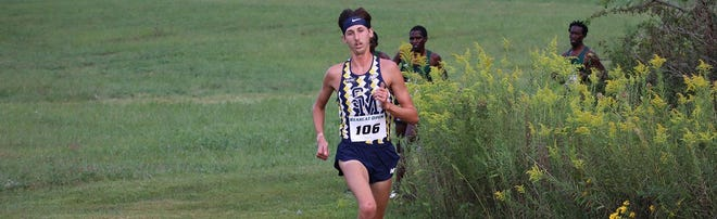Shown is University of Saint Mary cross country runner Johnathan Bowen.