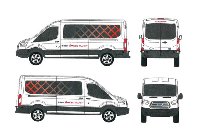 This image demonstrates what vans used in a Leavenworth public transportation program will look like.