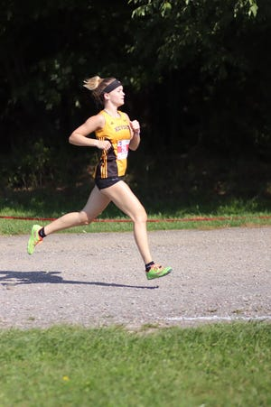 Keyser's Avery Everline finished in third place overall on Tuesday at the Savage Mountain 5K at Glendenning Park in Frostburg.