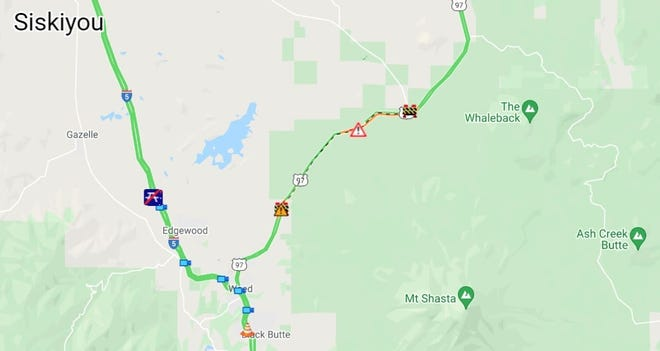 A mudslide has closed Highway 97 in the Weed area Friday morning, according to CalTrans District 2.