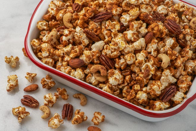 The Made in Oklahoma Coalition's Tailgate Caramel Corn is ideal for football season.