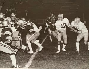 Stagg (dark uniforms) take on the Tracy Bulldogs during the Delta Kings' undefeated 1975 season