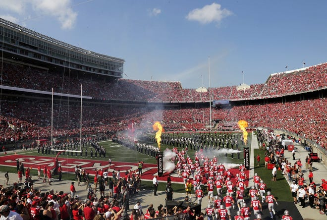 Ohio Stadium in Columbus is the site of Saturday's game between No. 12 Oregon and the No. 3 Buckeyes.
