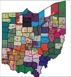 The Ohio Redistricting Commission Thursday proposed this Ohio House District map for the next decade.