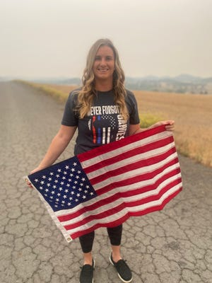 Becca Carpenter  of Montague ran 13 miles on Monday, Sept. 6, 2021 in honor of the 13 U.S. service people killed in Afghanistan.