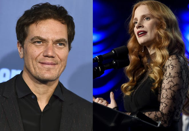"""Actors Michael Shannon and Jessica Chastain are set to star as country music legends George Jones and Tammy Wynette in TV series """"George & Tammy,"""" which is being shot in Wilmington."""