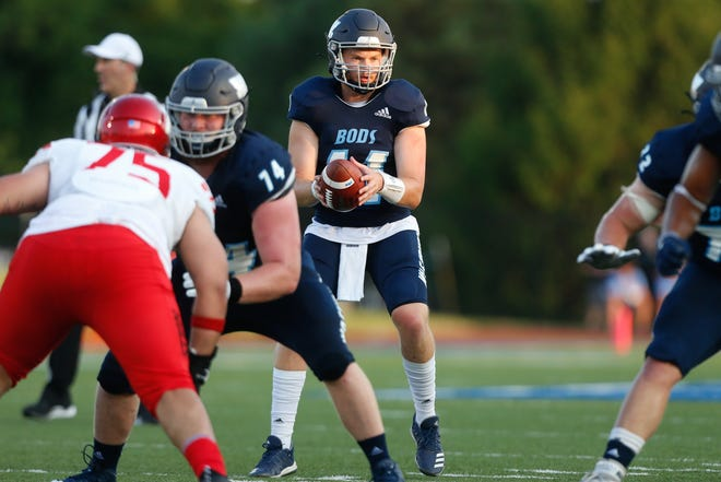 Washburn senior quarterback Mitch Schurig (11) led the Ichabods to an overtime win against Fort Hays State on Saturday, going 25-31 for 282 yards and three touchdowns.