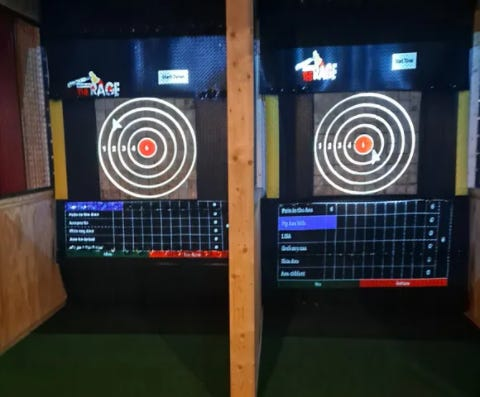 What's All The Rage Axe Throwing has opened in Burlington. Axe throwing is open to anyone 13 and up and coaches are on site to help build your skills.