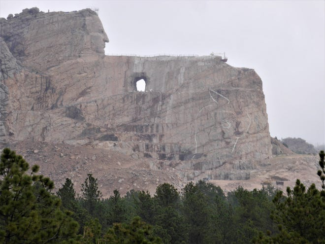Construction of the Crazy Horse Memorial in the Black Hills of South Dakota has been ongoing for more than 73 years.