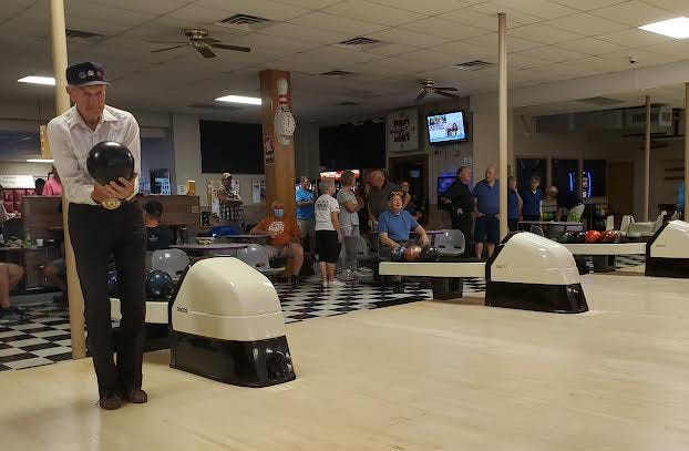 Roland Kleinschmidt of Harold, 91, has been participating in the South Dakota Senior Games since he was 55. Friday, he competed in bowling at Tommy's Lanes in Watertown.