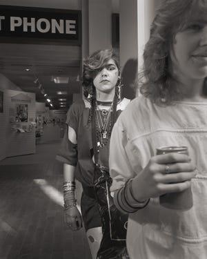 """Mall Series: Nancy (Madonna Wannabe) and Johanna,"" Worcester, June 1, 1985"