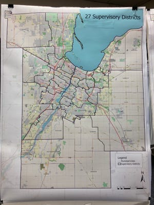 Brown County's citizens drafting ad hoc committee selected this map as the preferred map to be presented to the Brown County Board of Supervisors, and with it comes one new supervisory district.