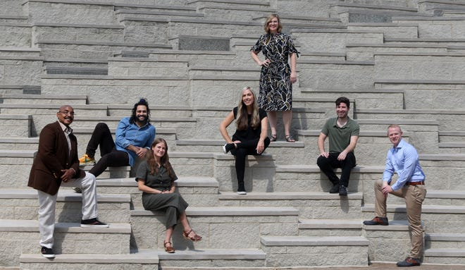 The 502 Film Collective is a non-profit group that just formed in Kentucky. From left to right are Nathaniel R. A. Spencer, Felipe Dieppa, Bryn Silverman, Soozie Eastman, Sarah Lempke O'Hare, Geoff Storts and Ben Moore.