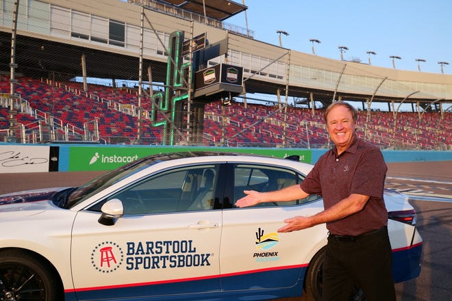 NASCAR Hall of Famer Rusty Wallace was on hand Thursday Sept. 9, 2021 to kick off the new Barstool Sportsbook partnership with Phoenix Raceway.