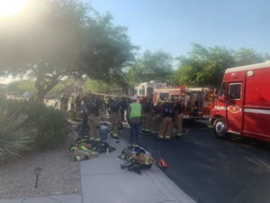 Scottsdale fire crews evacuate 25 homes due to a gas leak on Sept. 9, 2021.