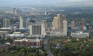 Downtown Reno is seen on Sept. 9, 2021.