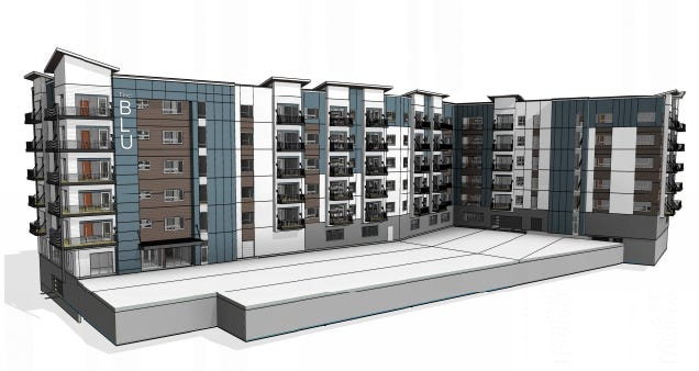 The Blu on Lorraine will be in the Lake Lorraine development, with beach-side access.