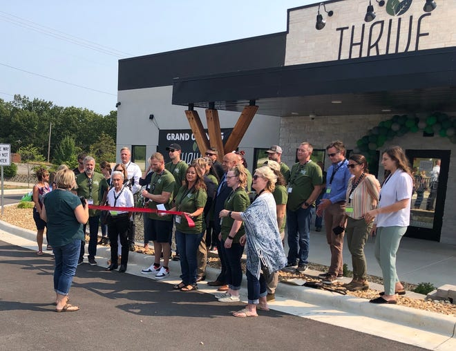 Thrive Branson West, the first medical marijuana dispensary in the Table Rock Lake area, held a ribbon-cutting the morning of Sept. 10, 2021.