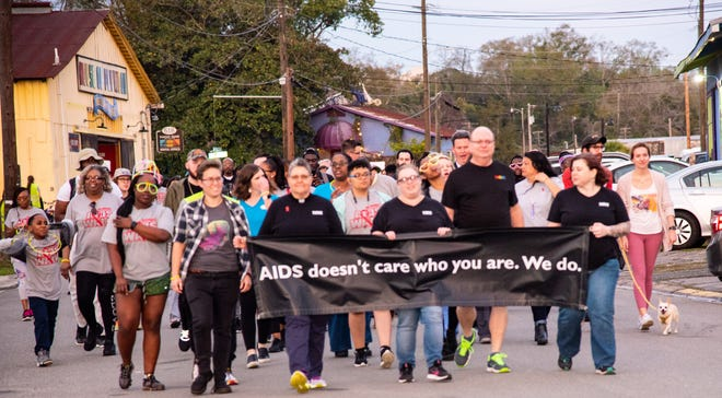 Big Bend Cares, Neighborhood Medical Center and Bond Community Health Center are walking together at Railroad Square at 6:30 p.m. Thursday, Sept. 16 for the Tallahassee AIDS Walk.