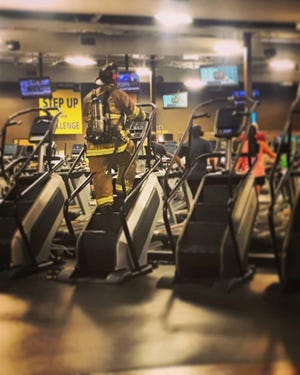 Local firefighters and others will be climbing 110 flights of stairs Saturday at Crunch Fitness in remembrance of first responders and others who lost their lives on 9/11.