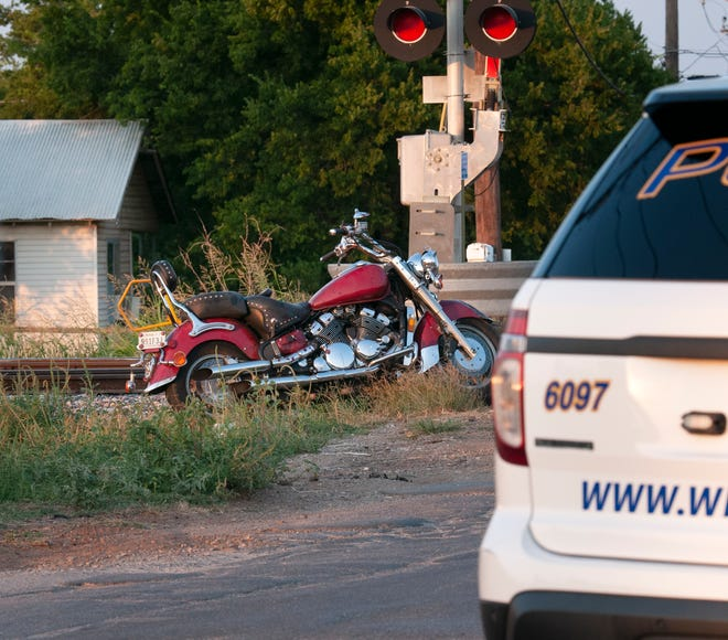 Wichita Falls police worked the scene of a motorcycle accident on Jefferson Street near Old Burk Highway Thursday night.