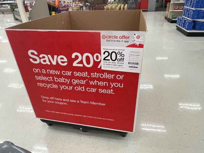 Targets typically hold child seat recycling events twice a year.