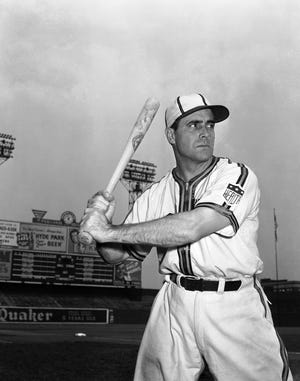 St. Louis Browns manager-player Luke Sewell on July 25, 1942. (AP Photo)
