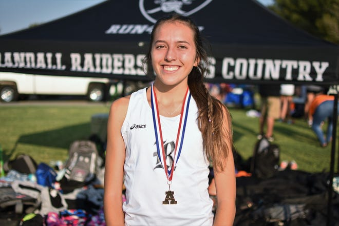 McConnell won the girls 5K Division I large race by almost 90 seconds ahead of second place at the Amarillo Invitational Cross Country Meet on Saturday, Sept. 11, 2021 at Rick Klein Park in Amarillo.