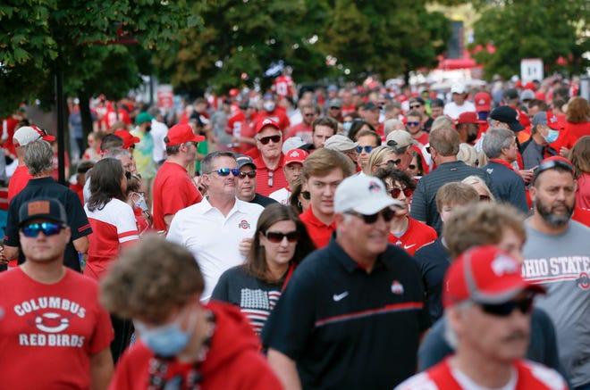 Fans enter Ohio Stadium prior to Saturday's game.