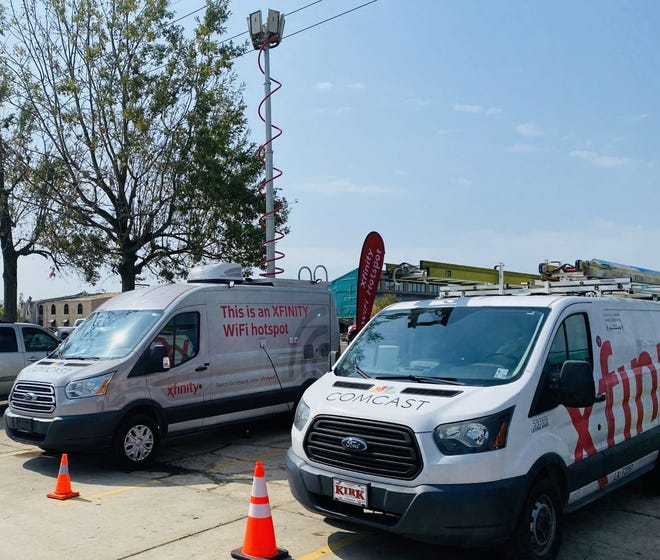 Comcast has brought a mobile Xfinity WiFi van to the Walmart parking lot at 1633 Martin Luther King Blvd. in Houma, offering free wi-fi internet access to residents in range.