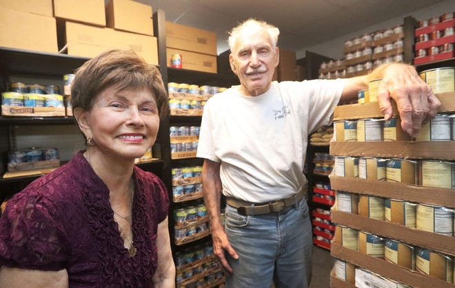 Gloria and Ray Max at the Jerry Doliner Food Bank in Ormond Beach.