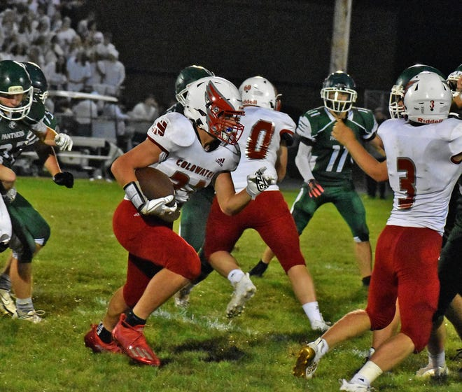 Coldwater was led on the night by Tyson Roby who exploded for 182 yards and two scores in the Cardinals win over Pennfield.