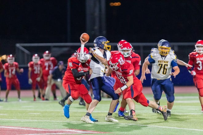 The Hornell defense swarmed to the ball on every single play on Friday evening, eventually giving them the 6-0 win on a pick-six in the third quarter.
