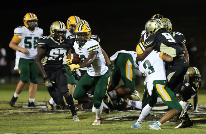 Crest traveled to North Gaston to open Big South Conference play Friday night. (Brian Mayhew / Special to the Gaston Gazette and Shelby Star)
