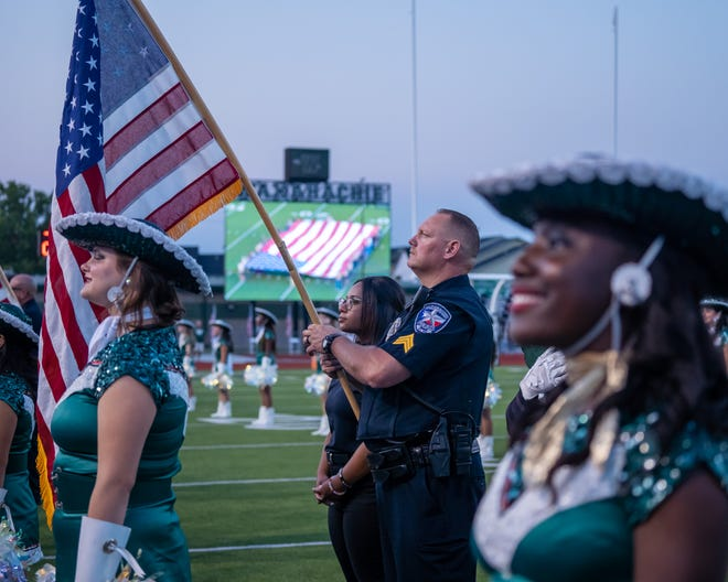 A 9/11 tribute was held before the 100th Battle of 287 at Lumpkins Stadium on Friday night. Ennis defeated Waxahachie in overtime, 22-21.
