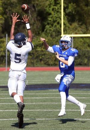 Scituate quarterback Dan Wulf had a big game in the Spartans' season-opening win vs Hope on Saturday.
