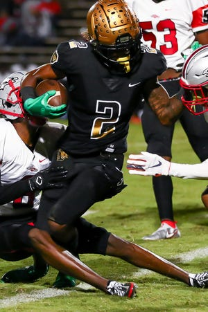 Scenes from Friday's football game between South Pointe (SC) and Shelby.