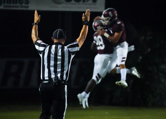 The Braden River High football team has plenty to celebrate after jumping into the Herald-Tribune area large school football rankings at No. 4 this week. The Pirates are 5-0 this season.