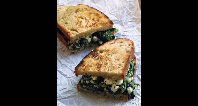 For a springtime twist on grilled cheese, spanakopita-ize it