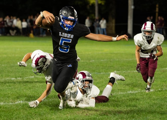 West Boylston's Bobby Humphrey has powered past defenders for the extra yard this season.