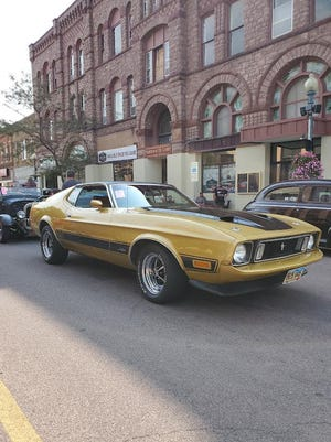 This 1970s Mustang Mach III is as rare as it is powerful. It was on display Saturday the 42 annual Vintique Show and Shine in downtown Watertown.