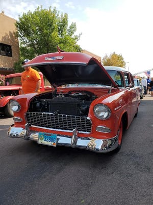 Plenty of sharp-looking vehicles, including this 1950's Chevy Bel-Air were on display in downtown Watertown as part of the 42nd Vintiques Show & Shine.