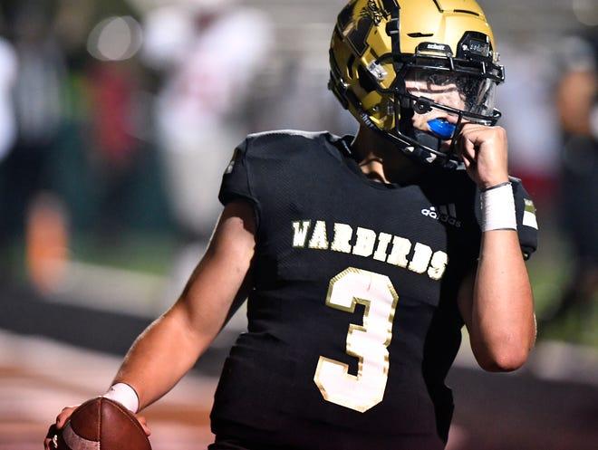 Abilene High quarterback Abel Ramirez scores a touchdown against Cedar Park Vista Ridge during last week's game at Shotwell Stadium.