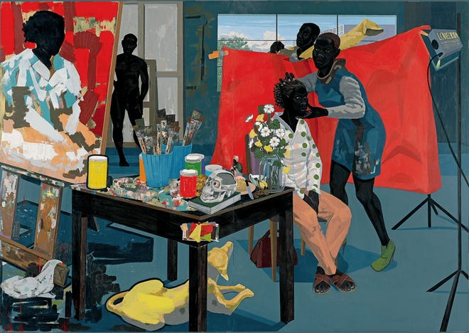 """Kerry James Marshall's ''Untitled (Studio)'' (2014) appears in """"Black Art: In the Absence of Light,"""" a documentary film directed by Sam Pollard."""