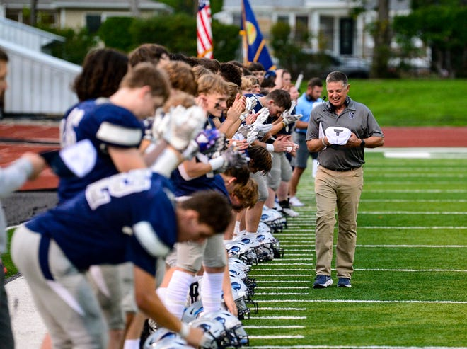 Great Falls High coach Mark Samson and the Bison football team take on Bozeman last month at Memorial Stadium.