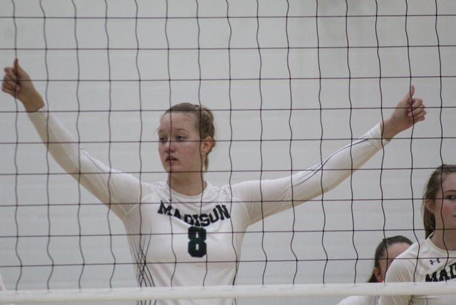 Madison's Faith Kuhn totaled 17 kills and six blocks and 11 digs in three-set win over Clear Fork.