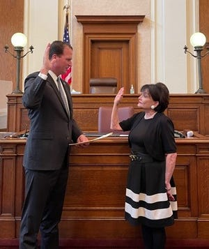 Dr. Sharon Kulig of San Angelo was sworn in as the newest member of the Texas Silver-Haired Legislature on Friday, Sept. 10, by U.S. Representative August Pfluger.
