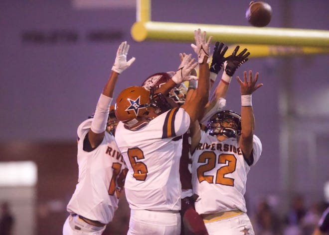 Ysleta faces Riverside in a high school football game in El Paso, Texas on Friday, Sept. 2021.
