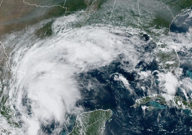 Tropical Storm Nicholas, which at 1p.m. Sunday had maximum sustained winds of 40 mph, was in the western Gulf of Mexico just offshore near Tampico, Tamaulipas, Mexico, moving north-northwest at 15 mph.
